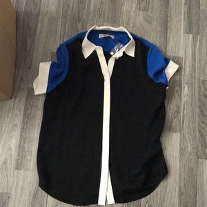 Michael Kors work shirt blue and black